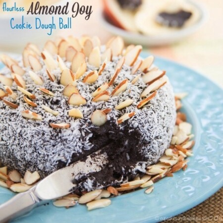 Flourless Almond Joy Cookie Dough Ball