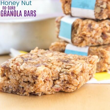 Honey Nut No Bake Granola Bars
