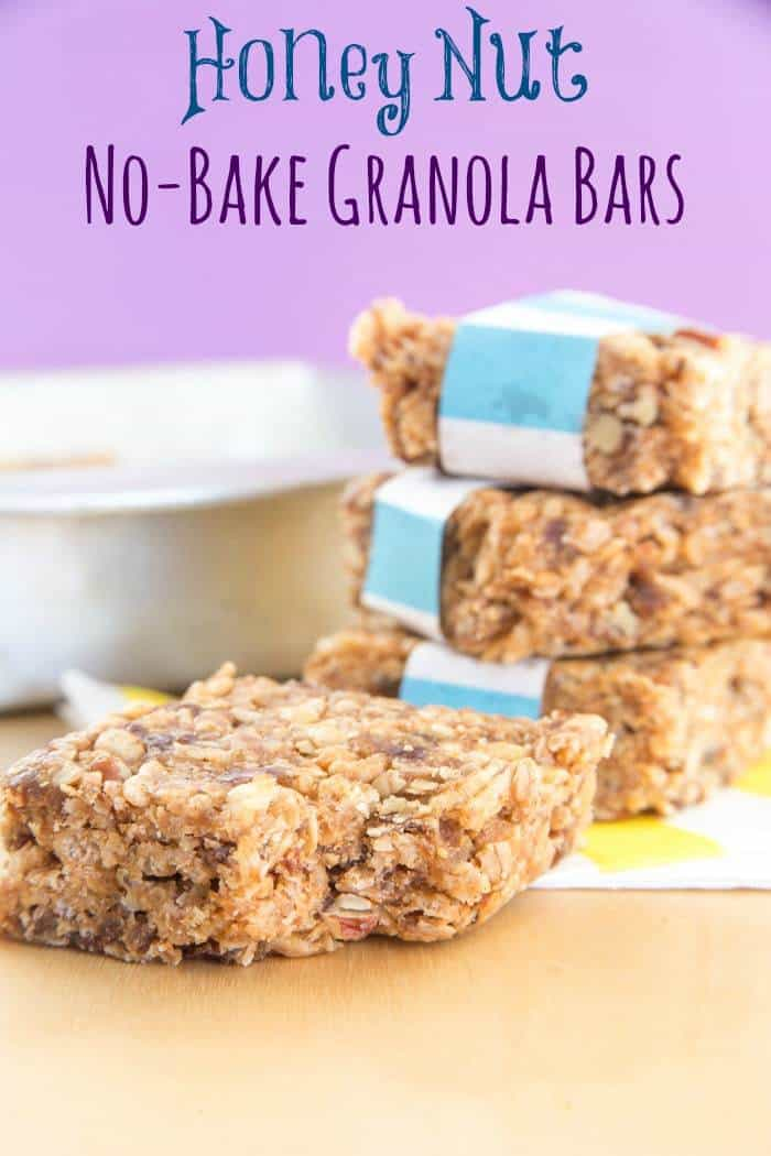 Honey Nut No-Bake Granola Bars are a sweet and salty snack to pair ...