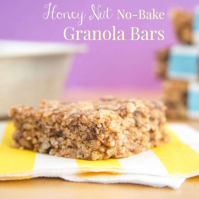 Honey Nut No Bake Granola Bars