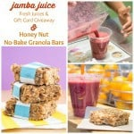 #JuiceByJamba & Honey Nut No-Bake Granola Bars – @JambaJuice #Giveaway #ad