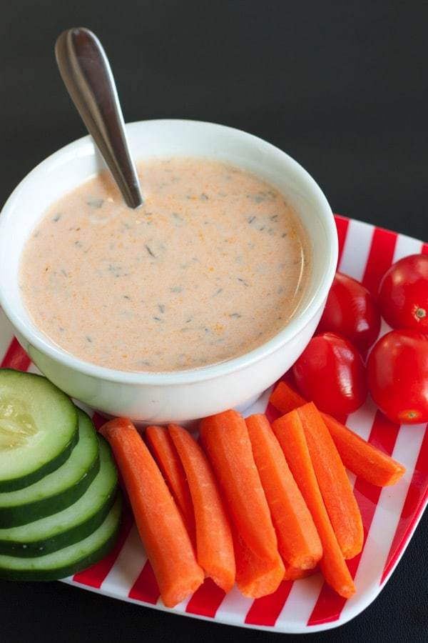 Pantry greek yogurt buffalo ranch dressing or dip - a healthy way to
