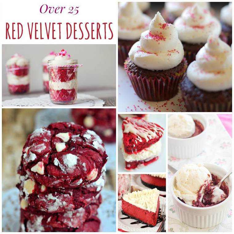 Over 25 Red Velvet Desserts - Cupcakes & Kale Chips
