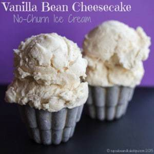Vanilla Bean Cheesecake No-Churn Ice Cream