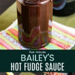 Irish Cream Hot Fudge Sauce Recipe Pinterest Collage