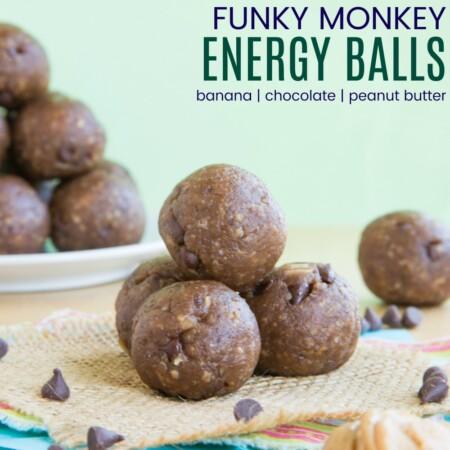 Funky Monkey Energy Bites Recipe Featured Image