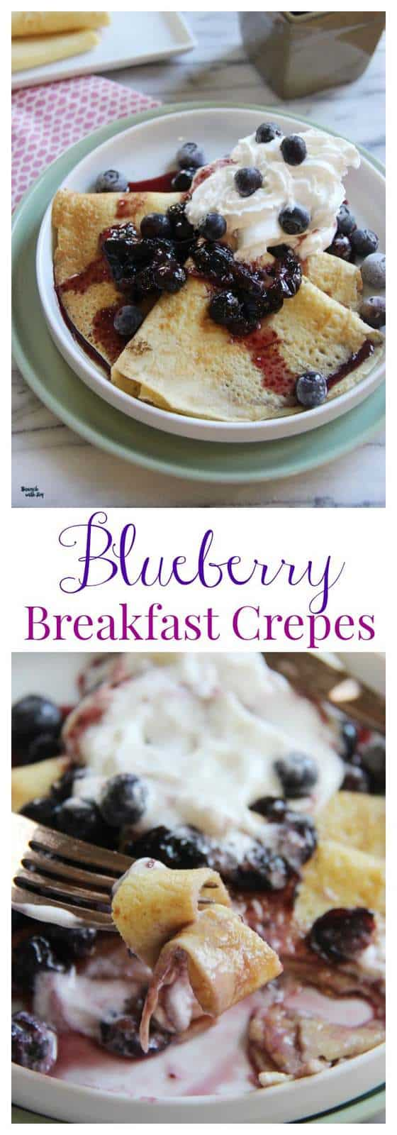 Blueberry Crepes Collage