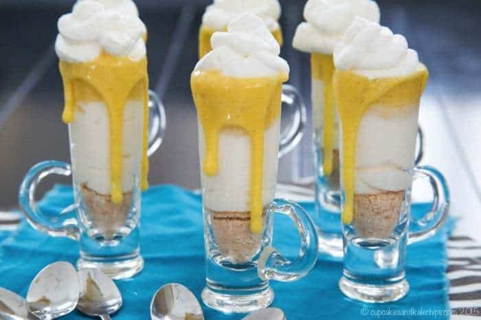 Quick No Bake Desserts like No-Bake Mini Creamsicle Cheesecake Parfaits