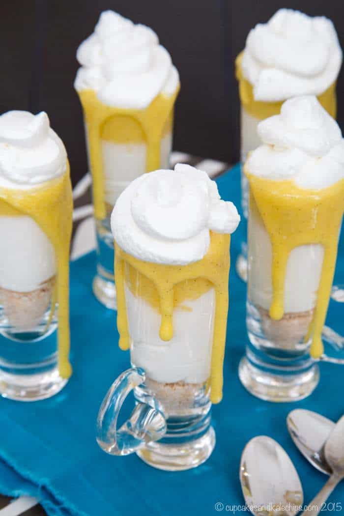 Gluten-Free No-Bake Creamsicle Cheesecake Parfaits