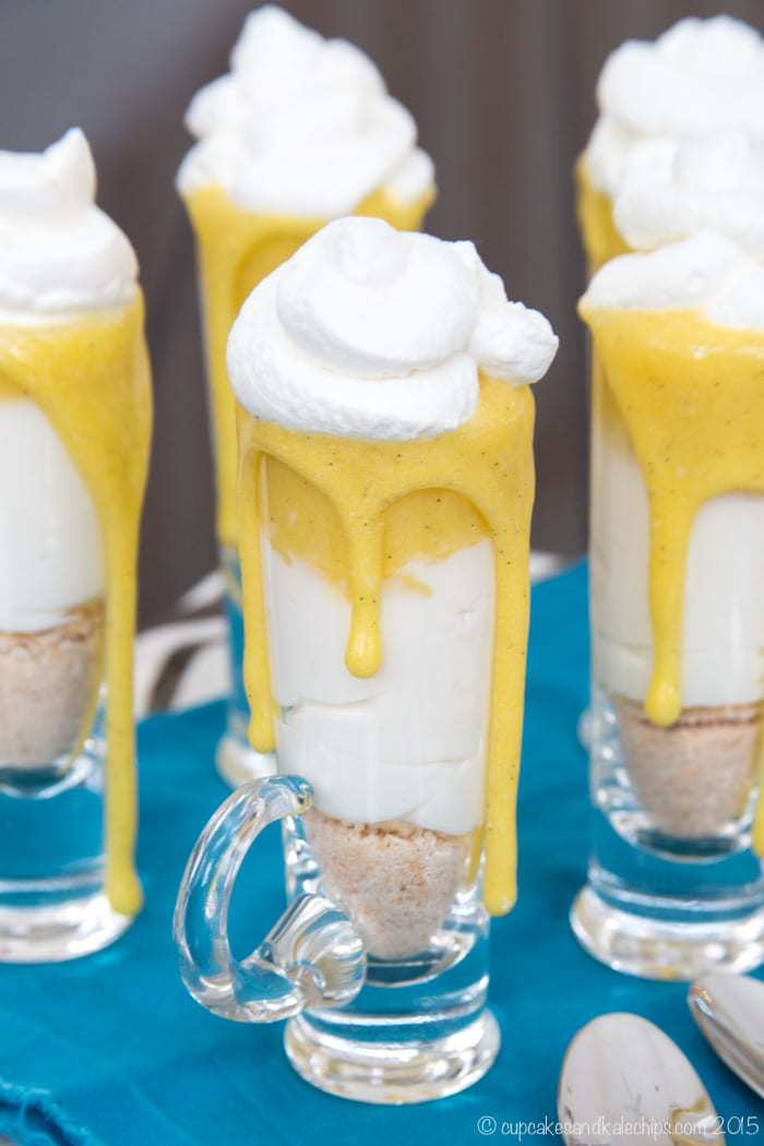 No-Bake Mini Creamsicle Cheesecake Parfaits - simple miniature desserts
