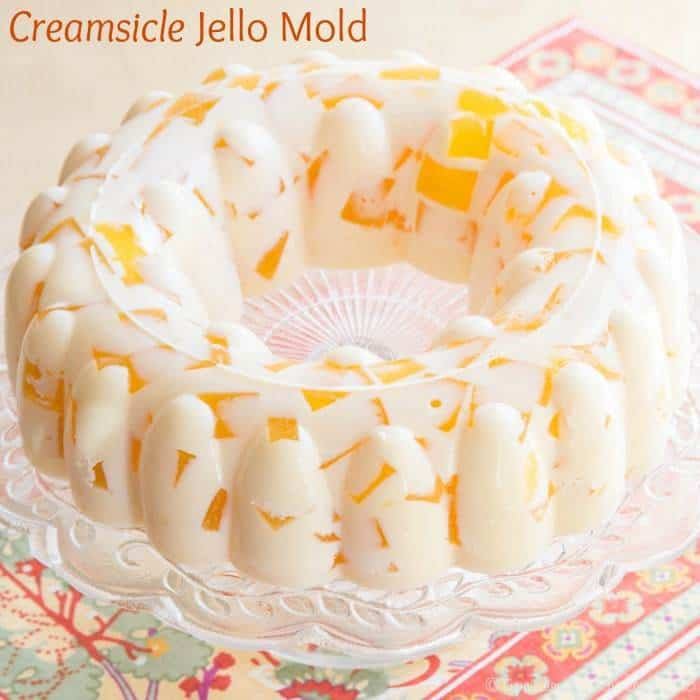 Creamsicle Jello Mold recipe