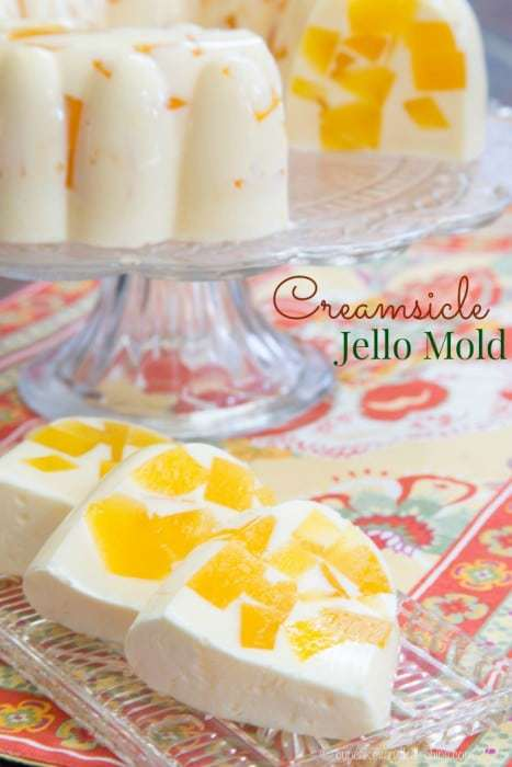 Creamsicle Jello Mold - one of the top ten most popular dessert recipes on cupcakesandkalechips.com for 2015