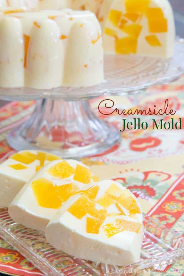 Orange Creamsicle Jello Mold