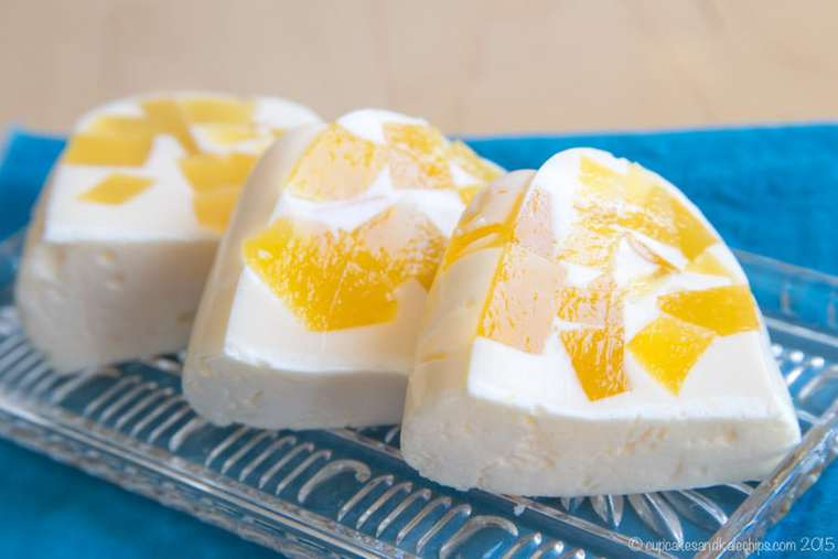 slices of creamsicle ice cream jello dessert