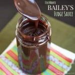 Bailey's Irish cream fudge sauce