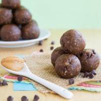Funky Monkey Banana Chocolate Peanut Butter Energy Balls
