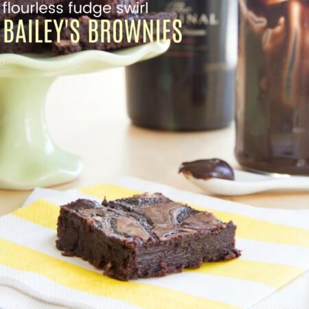 Flourless Gluten Free Baileys Brownies Recipe Featured Image