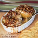 Honey Nut Baked Brie Bloomin' Apples for #SundaySupper