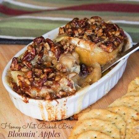 Honey Nut Baked Brie Bloomin' Apples