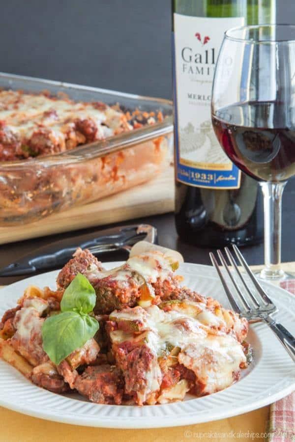 Italian Noodle Casserole - a healthier recipe for classic comfort food
