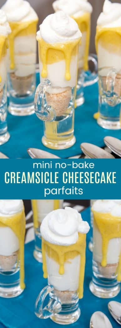 Mini No-Bake Creamsicle Cheesecake Parfaits - gluten-free dessert recipe