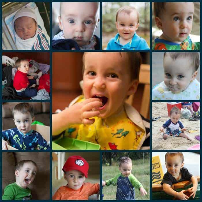 Peyton's 2nd Birthday Collage