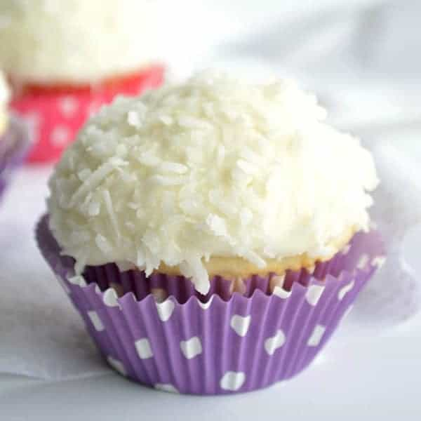 Coconut Cupcakes - Cupcakes & Kale Chips