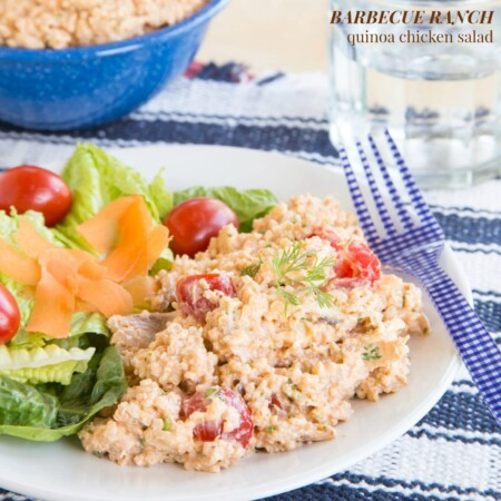 Barbecue Ranch Quinoa Chicken Salad for #SundaySupper