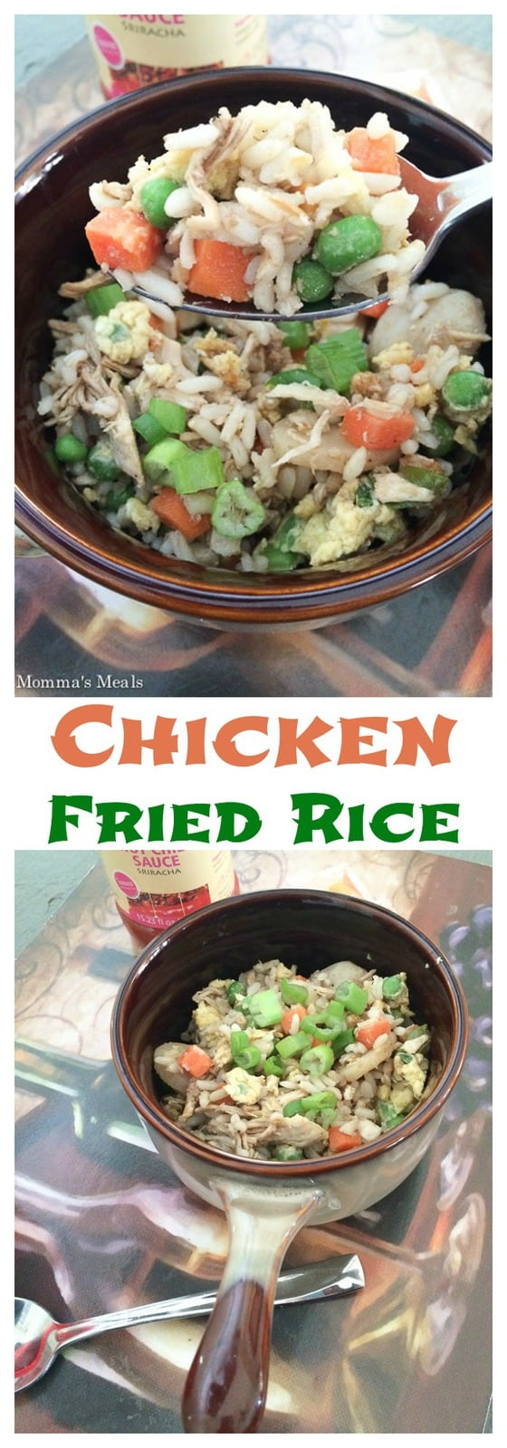 Chicken Fried Rice - it's easy, healthy and tasty to make your own takeout, and you can customize it based on what your family loves! | cupcakesandkalechips.com | gluten free recipe