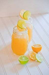 Two glasses of this citrus loaded margarita recipe