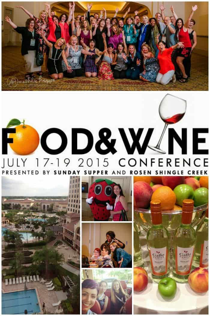 Come to the Food & Wine Conference, July 17-19 2015 in Orlando! Get the details and a promo code to save $50 on your registration. | cupcakesandkalechips.com