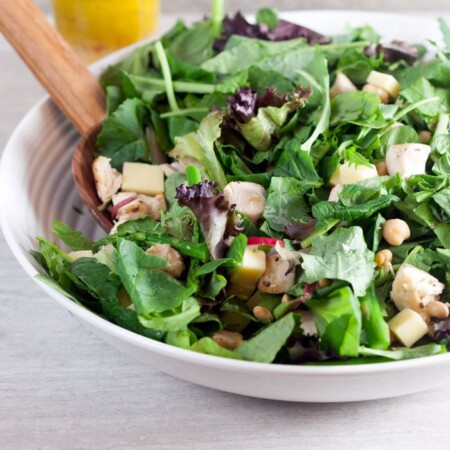 Farmhouse Salad with gluten-free citrus vinaigrette dressing