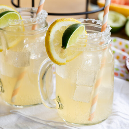 A pair of Skinny Grapefruit Margaritas