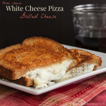 Three Cheese White Cheese Pizza Grilled Cheese