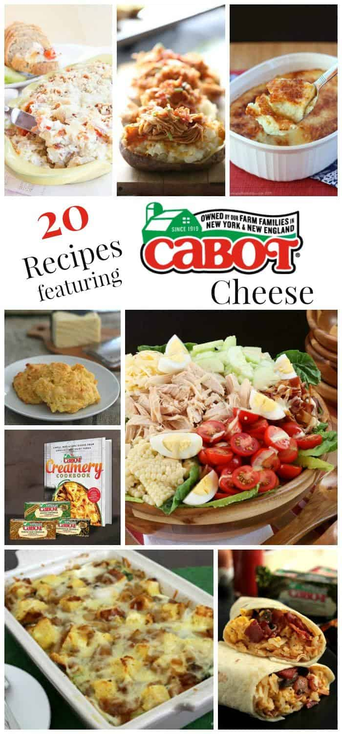 20 Recipes Featuring Cabot Cheese - my favorite Cabot Cheese recipes plus some of the most delicious recipes from the best food bloggers on the web!   cupcakesandkalechips.com