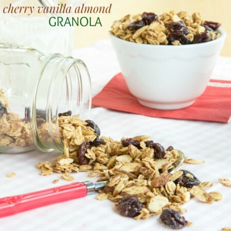 Cherry Vanilla Almond Granola for #BrunchWeek & #Giveaway