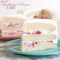 Gluten Free Strawberries and Cream Cake recipe-1954 title