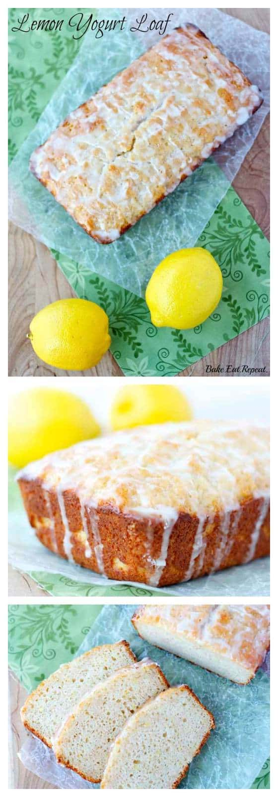 Lemon Yogurt Bread - Healthy, whole wheat lemon yogurt loaf with a delectable lemon glaze. Quick, easy and healthy for the perfect breakfast or snack! | cupcakesandkalechips.com