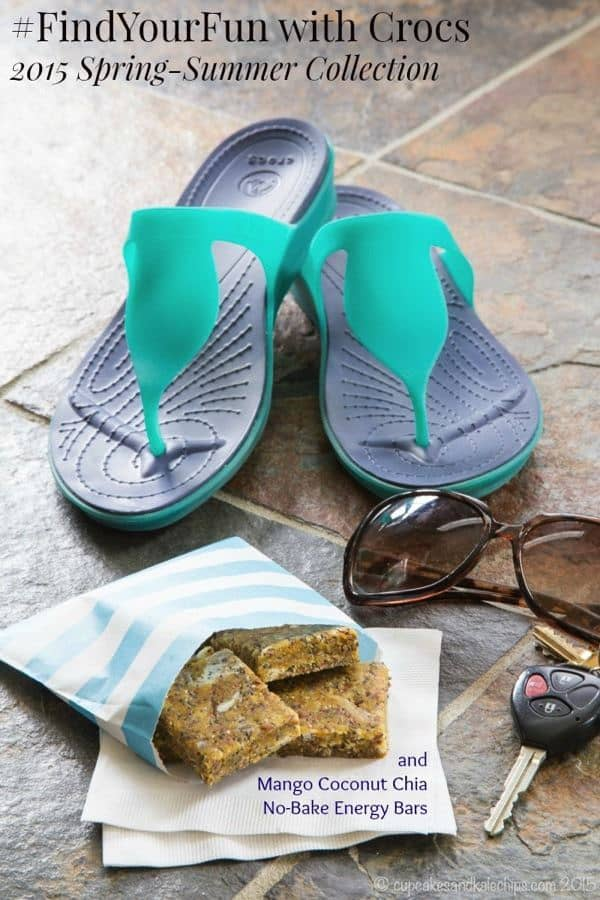 #FindYourFun with Crocs 2015 Spring-Summer Collection and get a recipe for Mango Coconut Chia No-Bake Energy Bars! #sk #ad | cupcakesandkalechips.com