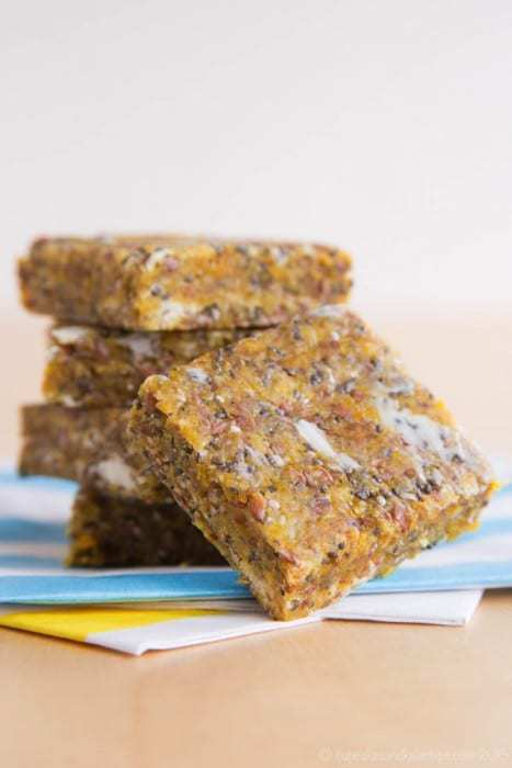 Mango Coconut Chia No-Bake Energy Bars - just one of the recipes for healthy no-bake snacks kids love to find in their school lunch or as an after school snack.