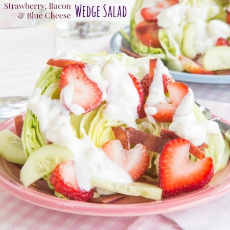 Strawberry Wedge Salad with Bacon and Blue Cheese