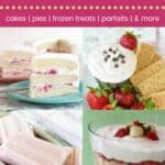 Sweet and Sassy Strawberry Dessert Recipes Pinterest Template Dark