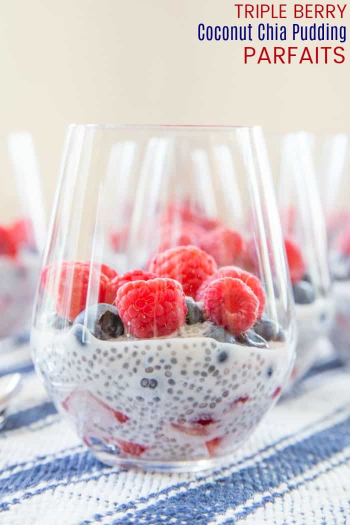 Triple Berry Coconut Chia Pudding Parfaits Recipe