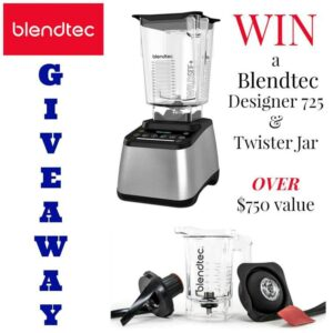 I am so excited about this Blendtec blender and Twister Jar! Be sure to enter this giveaway!