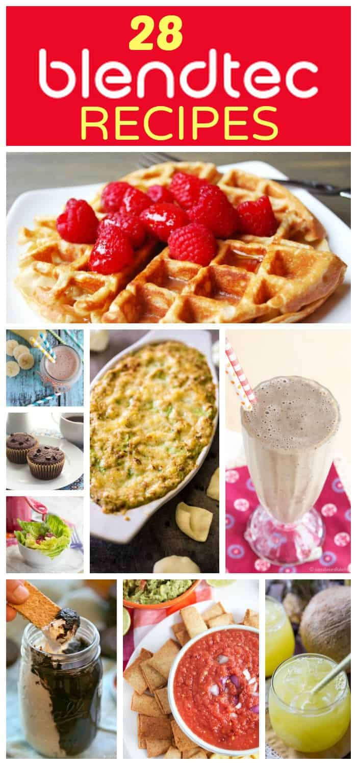 28 Blendtec Recipes - smoothies, muffins, dips, nut butters and so much more to make with your blender from the best food bloggers! | cupcakesandkalechips.com