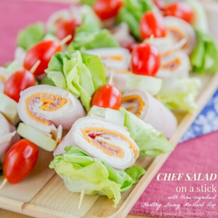 Chef Salad on a Stick - gluten free appetizers