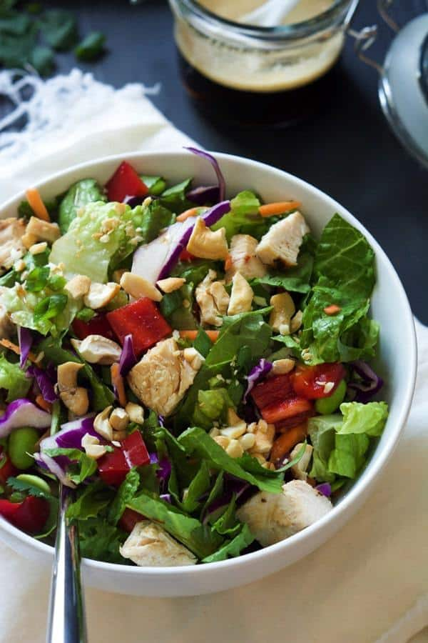Crispy Cashew Thai Chicken Salad with Soy Ginger Dressing 5