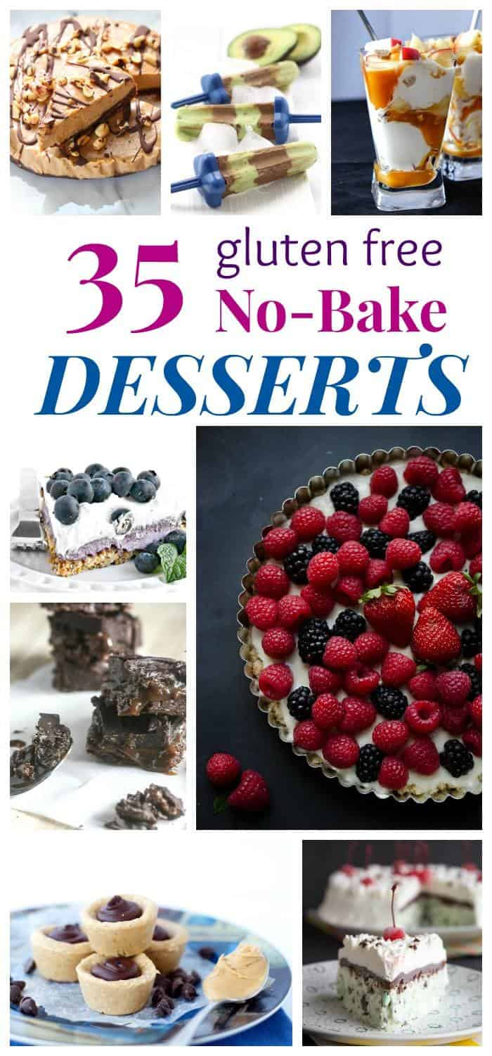 35 Gluten Free No Bake Dessert Recipes - cakes, pies, cookies, bars, popsicles, ice cream, and more, and you don't even have to turn on your oven! | cupcakesandkalechips.com