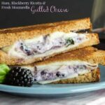 Ham, Blackberry Ricotta, and Fresh Mozzarella Grilled Cheese for #SundaySupper #FWCon