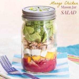 Mango Chicken Mason Jar Salad